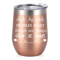 Stemless Wine Tumbler 12oz Stainless Steel Insulated Wine Glass Gift For Friends