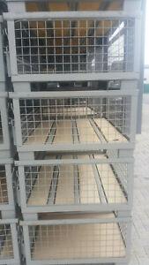 halbhohe Gitterboxen, Transportboxen,Bahnboxen,1,24 x 0,84 x 0,5m Neu/Neuwertige