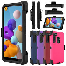For Samsung Galaxy A21 / A11 Phone Case Stand Shockproof Hybrid Armor Clip Cover
