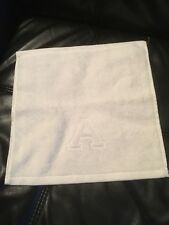 """MATOUK AUBERGE Monogrammed capital letter """"A"""" White Wash/Face cloth -New"""