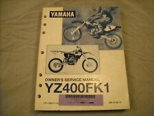 1998 Yamaha Service Manual YZ400 YZ400F