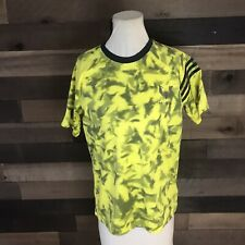 Adidas Messi Yellow And Blue Climalite Athletic Shirt Youth Large