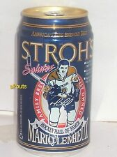 MARIO LEMIEUX HALL FAME PITTSBURGH PENGUINS ICE HOCKEY NHL STROH SPORTS BEER CAN