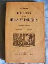 Berkeley Dialogues entre Hylas et Philonous Librairie Félix Alcan 1925
