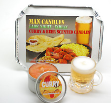 Unusual Gift for Curry Lover Man Candles for Men Curry & Beer Scented