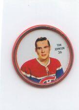 62-63 SHIRRIFF HOCKEY COIN #36 TOM JOHNSON CANADIENS