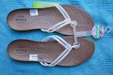 Crocs Comfort Thongs. Isabella Flip Design WHITE. Slip on. Size 11 NEW rrp$44.99
