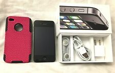 EXCELLENT iPhone 4s - 8GB - Black (AT&T) A1387 w/box, headphones, charger CLEAN.