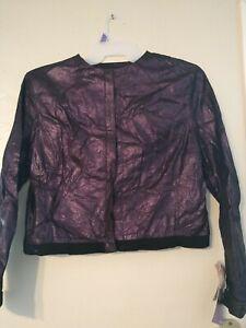 Venus Williams Wilson's Leather Mauve Purple Metallic Jacket Size XL