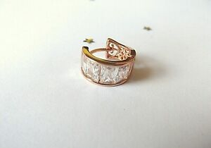 GOOD QUALITY Mens 9ct Rose Gold Plate Earring