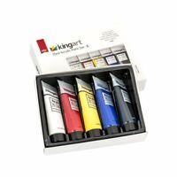 KINGART™ Artist Acrylic Paint, 75ml, Set of 5 Unique Colors