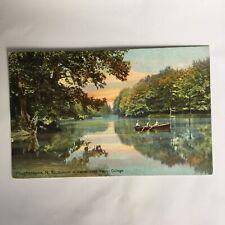Poughkeepsie New York Vassar Lake Vassar College Postmark 1909 Posted Postcard