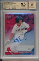Andrew Benintendi Red Sox 2016 Bowman's Best Red REF 2/5 BGS 9.5 10 Auto