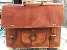 Classic camel en cuir sac d'épaule/Bureau/Ordinateur Portable Sac (L37xH27xW10cm)
