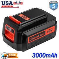 3.0AH For Black & Decker 40V MAX Lithium Battery LBXR36 LBX2040 LBXR2036 LBX1540