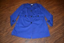 G14- Chico's Rayon Blend Blue Coat Size 2