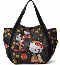 Hello Kitty x Dearisimo Big Toto Bag 2Way  BLACK kawaii Sanrio F/S From Japan