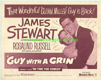 NO TIME FOR COMEDY aka GUY WITH A GRIN MOVIE POSTER 22x28 HS R1954 JAMES STEWART