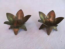 Antique Old West Germany,W. Germany Christmas Teeny Tiny Brass Candle Holders