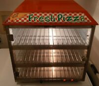 Retro Pizza & Snack 3 Tier Heated Warmer Merchandiser 19 In Fusion 513 Display
