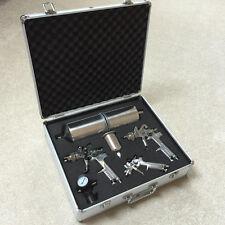 3 HVLP Air Spray Gun Kit Auto Paint Detail Basecoat Car Primer  Clearcoat +Case