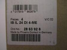 Phoenix Contact IB IL 24 DI 4-ME 2863928 24 V/DC  NEU