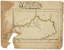 Kentucky - Early 19th-Century Hand-Drawn Map