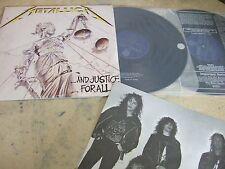 """METALLICA(KOREA 2 VINYL LP 12"""")AND JUSTICE FOR ALL orig 1988 9TRACKS EX VERTIGO"""
