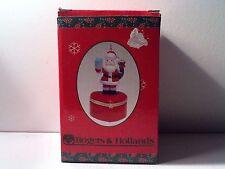 Vintage Christmas Rogers & Hollands Santa Hinged Ring Gift Box Ceramic - W/ Box