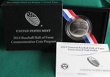 2014 Baseball Hall of Fame BU HALF DOLLAR US Mint Clad UNC Coin Box and COA