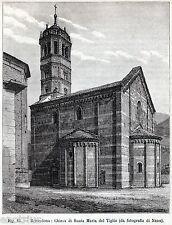 Gravedona: Chiesa di Santa Maria del Tiglio, Como. Lombardia. Stampa Antica.1896