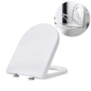 WC Sitz Toilettendeckel mit Absenkautomatik/Duroplast Klodeckel Toilettensitz