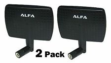 2 Pack Alfa 2.4HGz 7dBi Booster RP-SMA Panel High-Gain Screw-On Swivel Antenna