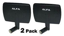 2 Pack Alfa 2.4HGz 7dBi Booster RP-SMA Panel High-Gain Screw-On Swivel Antenna