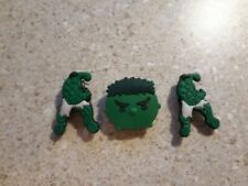 Lot of 3 The Hulk shoe charms for Crocs shoes. Other uses Craft, Scrapbook