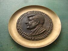 John F. Kennedy  brass plate 35th President JFK