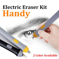 Automatic Electric Rotating Eraser Painting Kit Replaced Refills Battery