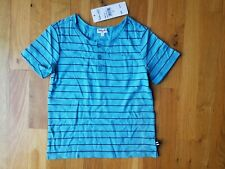 Nwt Splendid boys blue striped Henley shirt 4T short sleeve