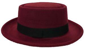 Round Top Porkpie Derby Trilby Bowler Bucket Fedora Dress Hat Cap