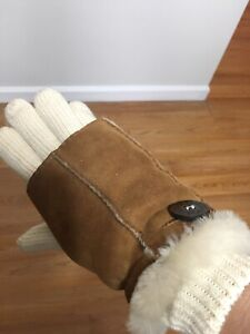 Womens Uggs Shearling Gloves One Size