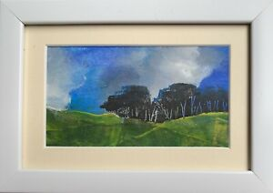 Beyond The Blue  - Mini original by Sarah Gill In A Frame