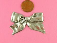 Bow - 4 Pc(s) Vintage Design Antique Silver Festive