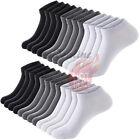 3-12 Pairs Men's Ankle Quarter Crew Sports Socks Cotton Low Cut Size 9-11,10-13