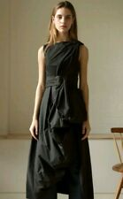 £530 Designer ISA ARFEN draped top sexy dress size 6 --NEW WITH TAGS-- black