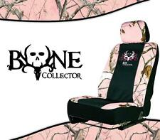 Pink REALTREE Bone Collector Universal Camo Seat Cover - Low Back Seat Cover