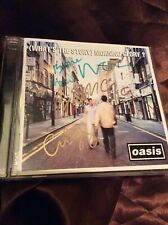 OASIS - SIGNED (WHAT'S THE STORY) MORNING GLORY? VGC CD. LIAM / NOEL GALLAGHER