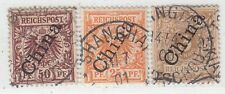 CHINA GERMAN OFFICE 1898  ISSUE USED STAMPS SCOTT 1A+5/6= 1.II+ 5/6 II