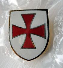 Knights Templar Shield Crusader St George Crusade Cross Pin Badge used