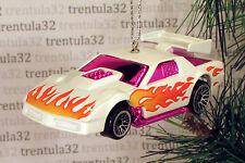 Custom 1985 Chevy Camaro '85 CHRISTMAS TREE ORNAMENT White/Pink w FLAMES XMAS