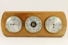 Vintage German Wall Hanging Thermometer & Barometer & Hygrometer Working